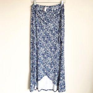 Cynthia Rowley Paisley Wrap Maxi Skirt